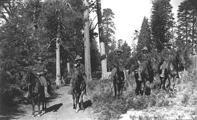 The US Armys 24th Infantry on mounted patrol in Yosemite