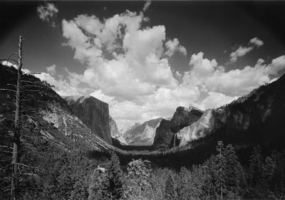 Wawona Road. Yosemite Valley From Tunnel View. DHH Collection