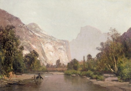 Yosemite Valley in the 19th century painted by Thomas Hill
