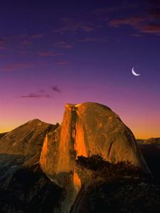 Alpen Glow On Half Dome-Yosemite-Allposters.com
