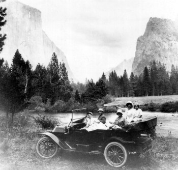 First car permit in Yosemite in 1913. DHH collection