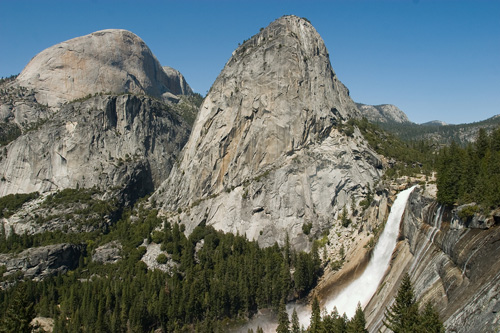 Nevada Falls And Liberty Cap Yosemite