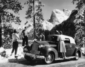 Motoring into Yosemite Valley. Courtesy of the NPS