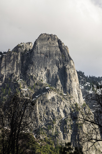 Yosemite's Sentinnel rock towers 3,000 feet above the valley floor
