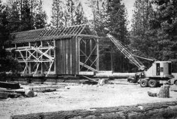 Covered bridge. The pioneer covered bridge started to take shape again.