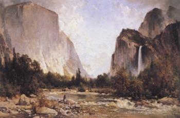 Thomas Hill Fishing In Yosemite