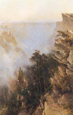 Thomas Hill painting of scene in Yosemite