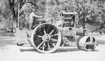 Building Equipment on the way to the Tioga Road. DHH Collection
