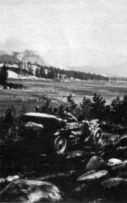 Yosemite's Tioga  Road at Tuolumne Meadow 1913. DHH Collection