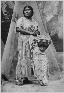 Yosemite Indian Mother and Baby