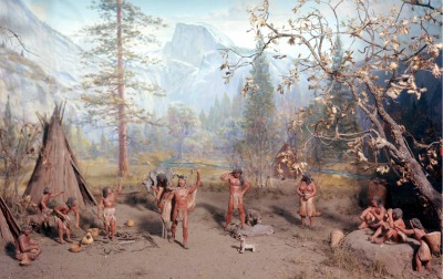 The successful Yosemite Indian hunters return