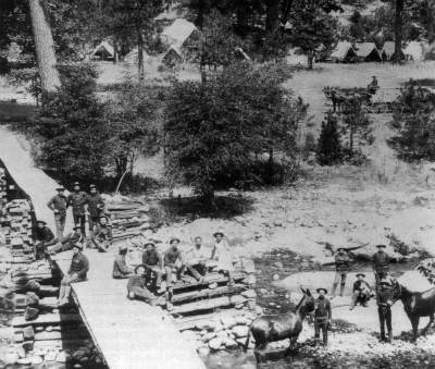 Cavalry Camp A.E. Wood in Wawona. DHH Collection