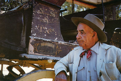 Stage Driver Eddie Webb, the last living Yosemite driver, in 1964.