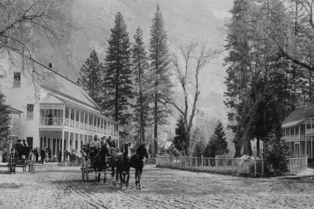 Sentinnel Hotel Yosemite Valley. DHH Collection