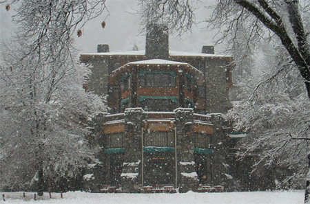Yosemites Ahwahnee Hotel In Winter. Courtesy of the DNC
