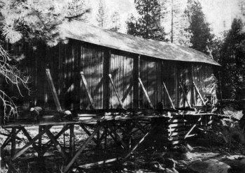 The Wawona Covered Bridge was sagging!