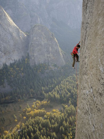 On El Capitan with no rope. Jimmy Chin AllPosters.com