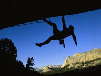 Climber silhouette. Bill Hatcher AllPosters.com