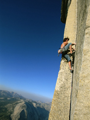 Free-styling on Half Dome. Jimmy Chin AllPosters.com
