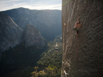 On the darkening side of El Capitan. Jimmy Chin AllPosters.com