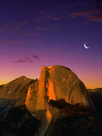 Half Dome in alpenglow from Glacier Point. AllPosters.com