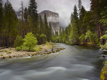 Storm clouds engulf El Capitan in the late fall. AllPosters.com