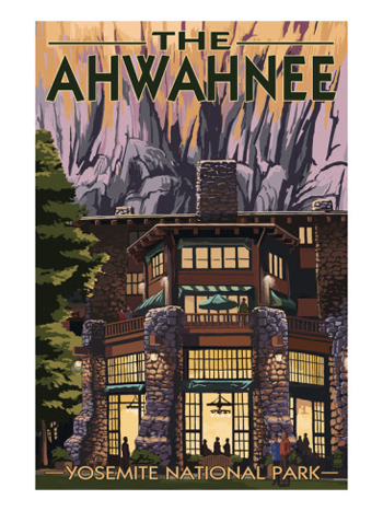 Yosemite's Historic Ahwahnee Hotel-AllPosters.com