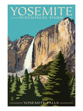 Yosemite Falls From The Ahwahnee Meadow-AllPosters.com