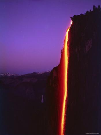Yosemite's Historic Firefall-AllPosters.com