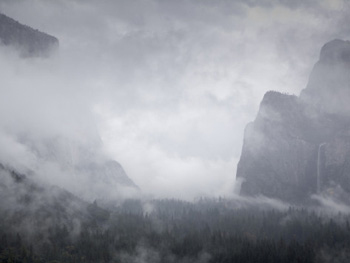 Foggy Yosemite tunnel view. AllPosters.com