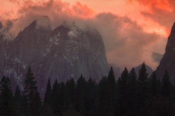 Firey Yosemite Sunset. AllPosters.com