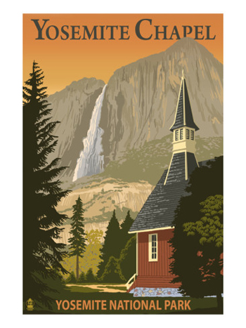 Yosemite Chapel In The Spring-AllPosters.com
