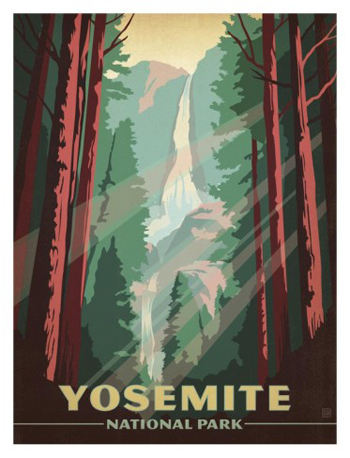 Yosemite Falls From The Path-AllPosters.com