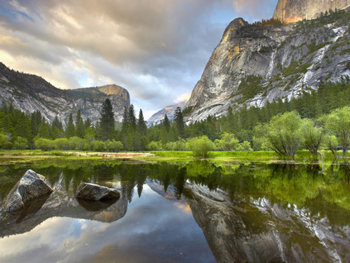 Yosemite Valley from the east end looking west. AllPosters.com