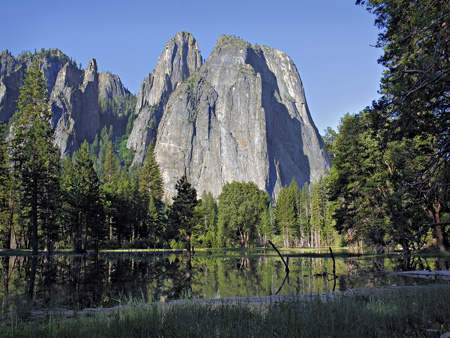 Cathedral Rock in Yosemite Valley