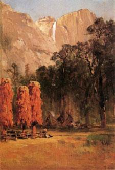 Yosemite Indian Camp a Thomas Hill painting