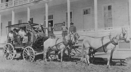Preparing for a horse-drawn tour of Yosemite Valley