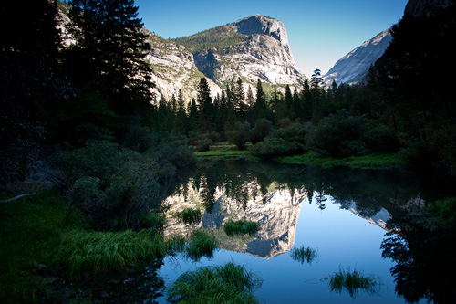 Mirror Lake in Yosemite Valley is slowly becoming a meadow