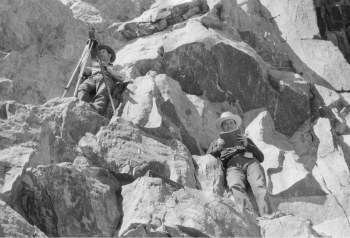 Surveying Yosemite's Tioga Road. DHH Collection