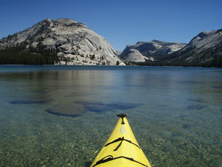 Tenaya Lake is large and deep.