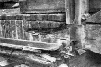 Wawona covered bridge, rot was at work.