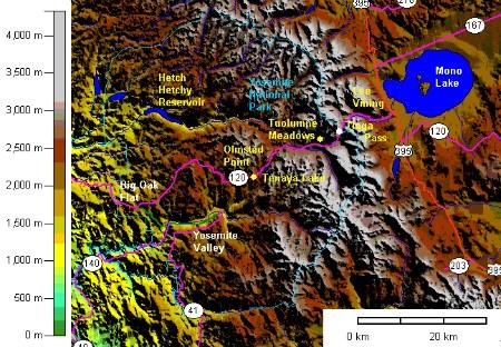 Tioga Road Topographic Map