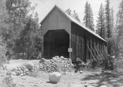 Wawona Covered Bridge. DH Hubbard collection.