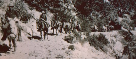 The US Cavalry patrol the Old Tioga Road