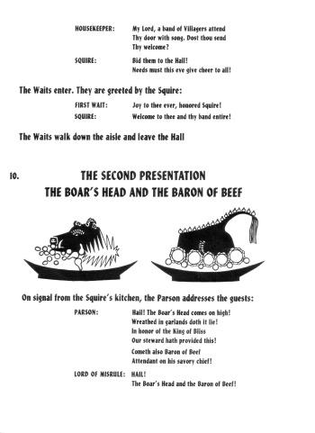 Bracebridge Dinner, The Boar's Head and Baron of Beef