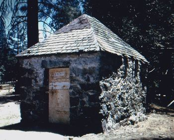 Early Pioneers. Yosemite's historic dynamite house. DH Hubbard collection