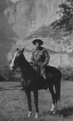 Early Yosemite Ranger Billy Nelson with his ever present cigar