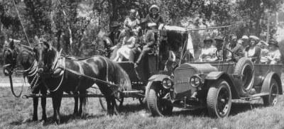 The arrival of the automobile in Yosemite