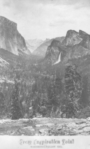 Yosemite From Inspiration Point. DH Hubbard collection.