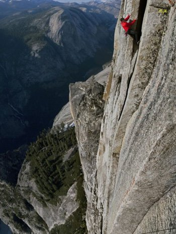 Fingertips only on Half Dome. Jimmy Chin AllPosters.com